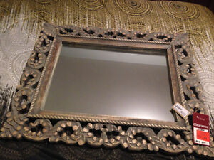 Large 33x28 Solid heavy wood frame from wicker emporium -New
