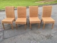 RATTAN DINING CHAIRS SET OF 4 EXCELLENT CONDITION ** FREE DELIVERY AVAILABLE **