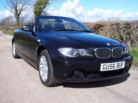 2006 56 Plate BMW 318 2.0 Ci SE , In Black , Black Cloth , Only 48,000 Miles
