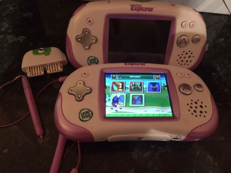 leapfrog explorers x2 with two games and camera