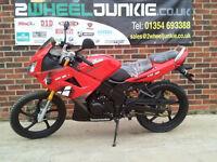 Lexmoto XTRS 125cc Sports Tourer Red LEARNER MOTORBIKE MOTORCYCLE UK DEALER
