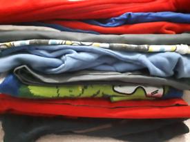 Bundle of boys 5-6 jumpers jackets Tshirts suits waistcoat trouses ha
