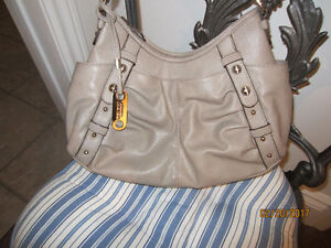 New taupe handbag