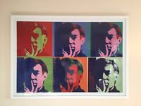 Andy Warhol massive professionally framed self portrait print (normally £500)