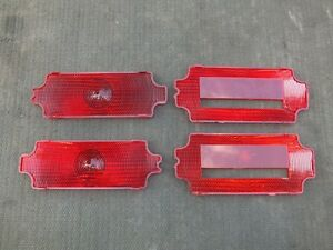 "1971-72 CUTLASS SUPREME ""S"" 4-4-2 TAIL LIGHS LENSES INSERTS OLDS"