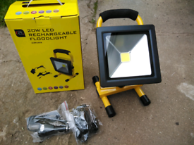 New led rechargeable 20watt floodlight