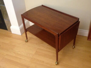 Midcentury Danish Sliding-Top Service cart  $875.00