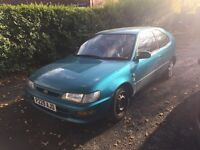 1998 Toyota Corolla 1.3 petrol long mot cheap car