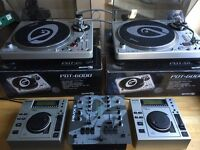 Gemini PDT 6000 Cdj 20 PMX 140 Ortofon and Stanton scratch cartridges and needles