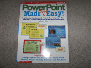PowerPoint Made Very Easy book-for kids Grades 4-8 + bonus