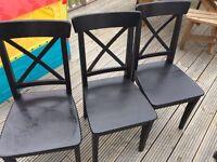 IKEA ingolf black dining chairs