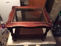 Coffee table glass front door shelved unit X4 available dining room furniture house clearance
