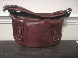 Rare Vintage FOSSIL 54 Leather Hand Bag