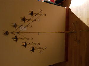 3 adjustable brass candelabra