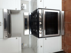 Samsung gas oven and range hood stainless steel