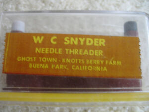 FOOLPROOF VINTAGE W.C.SNYDER ITALIAN-MADE NEEDLE THREADER