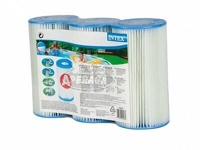 Kit 3 cartucce filtro 29000 Intex 29003 tipo A pompa piscina fuori...