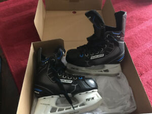 Like new boys Bauer skates size 1