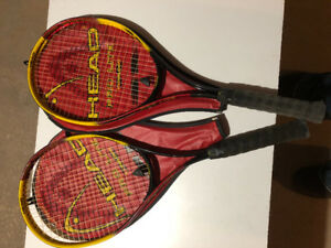 squash and tennis rackets