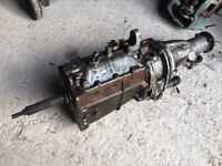 Jaguar 4 speed synchro overdrive gearbox