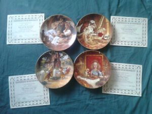 Collectable childhood stories plate set (4 plates and letters)