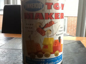 Old Tinkertoy toy maker