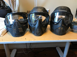 3 Paintball Masks - As-Is