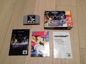 N64 Star Wars and N64 WWF War Zone with Manuals and Box