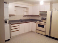 Spacious 1 Bedroom Basement Apt W/Sep Entrance and Laundry