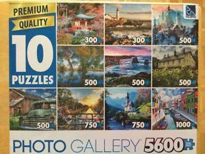 **10 puzzle/casse-tête de 300 a 1000 pièces - 10$
