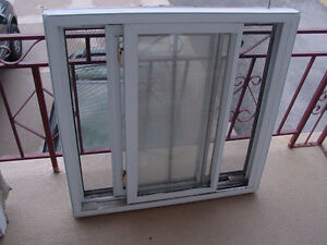 Used Pair Of Sliding Double Glass Windows