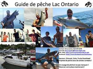 Guide de pêche saumon lac ontario