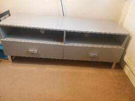 Grey gloss tv cabinet