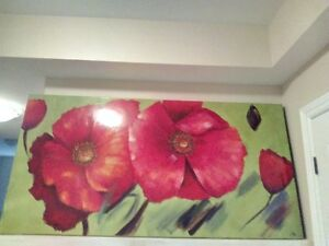 Large Poppy Canvas Painting