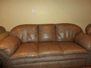 Leather Sofa and Love seat in Exceptional Condition