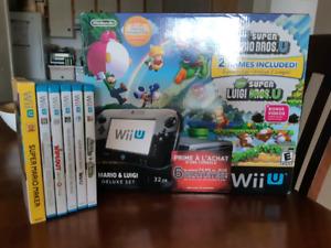 Wii U avec 6 jeux