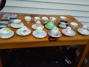 COLLECTION  OF CUPS AND SAUCERS ALL FOR ONLY $29.00