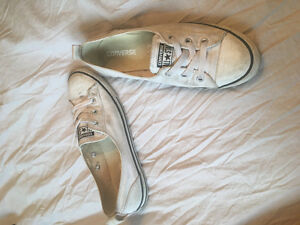 Navy and white converse