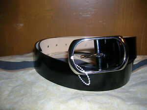 Banana Republic Designer Belt Patent Leather Made In Italy New