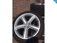 Audi genuine 18 alloy wheels & tyres