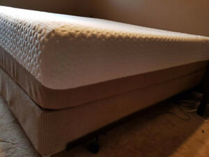 Serta iComfort King Mattress Set with Mattress Cover.
