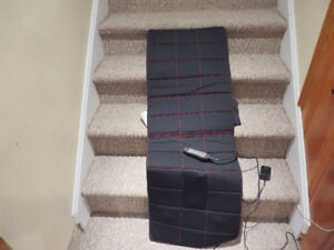 Massage mat with heat and remote control