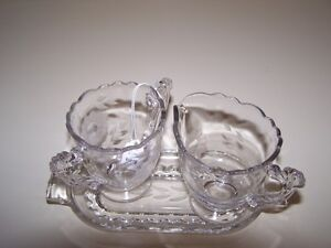 GREG'S ANTIQUES and COLLECTABLES - CORNFLOWER CREAM & SUGAR