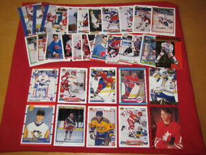 35 hockey rookie cards (most from 1990s)