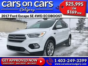 2017 Ford Escape SE 4WD ECOBOOST w/Leather, PanoRoof, Navi $169
