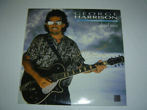 "Beatles George Harrison Album LP ""Cloud Nine"" Signé Autographié"