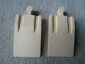 WOODEN TRAIN TRACK - 2 END RAMP PIECES