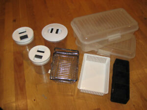 9 Storage containers