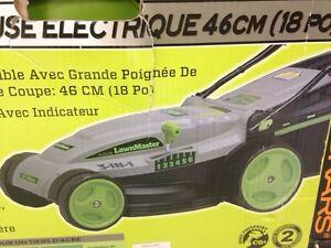Electric lawnmower used twice