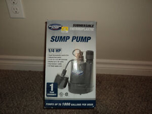 Sump Pump 1/4 hp